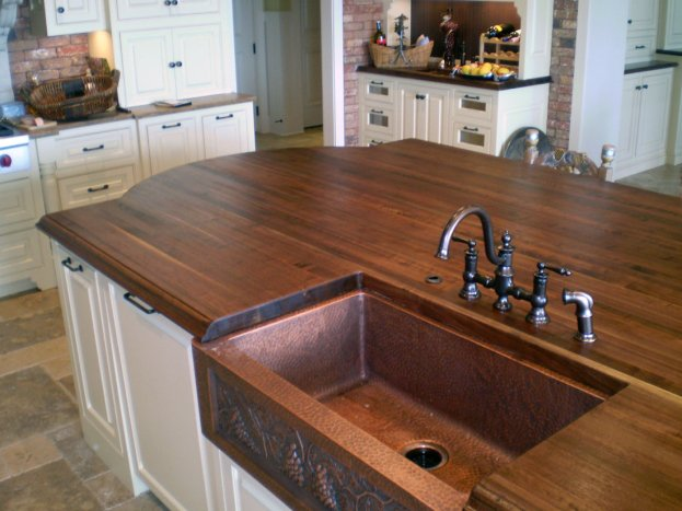 Walnut Edge Grain San Diego - The Countertop Company